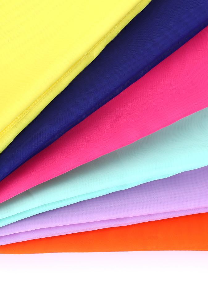 100% Polyester translucent hazy feeling multi colors inherent flame retardant terylene sheer blinds fabric