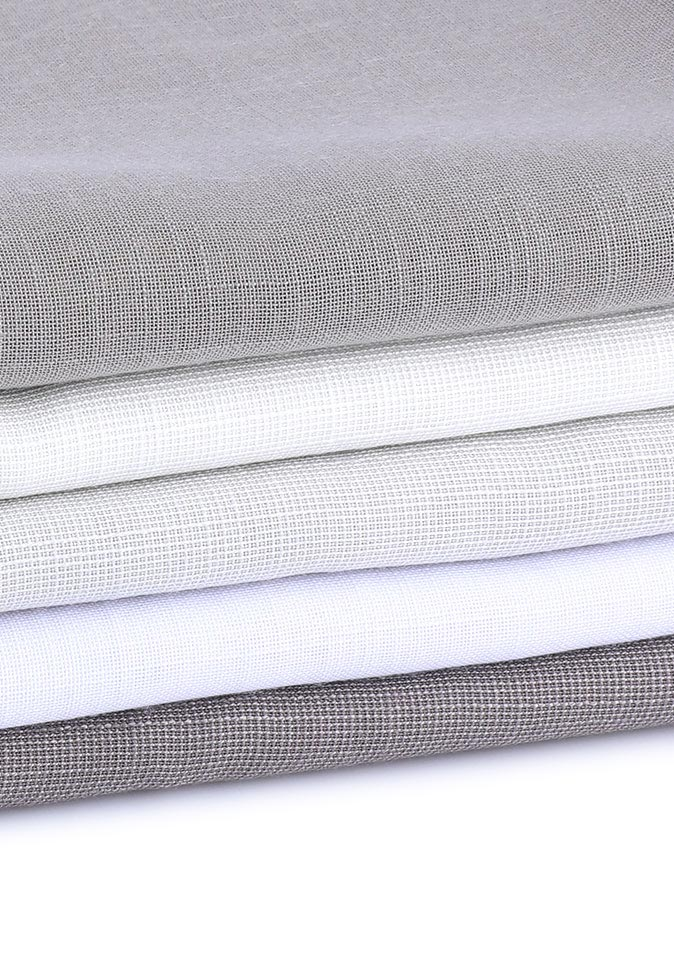 100% Polyester double sided linen like different colors inherent flame retardant sheer fabrics for hotel