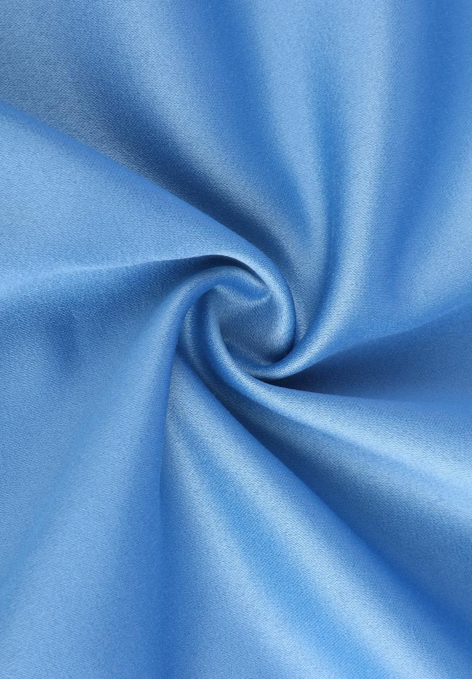 100% polyester smooth and soft auditorium plain multi colors satin curtain fabric