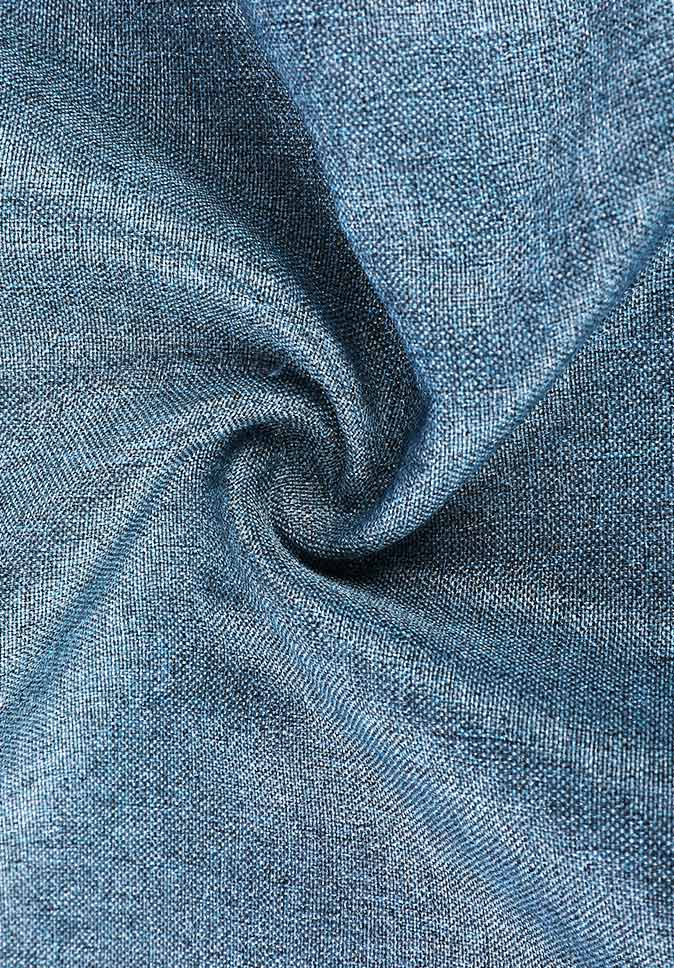 100% Polyester market price cationic BR linen-like two-color effect customized curtain fabric