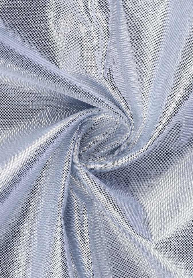 100% Polyester woven satin silver silk smooth and delicate window sheer curtain fabric