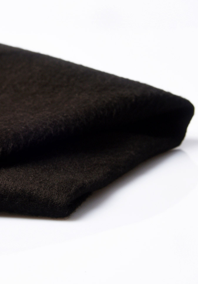 100% Polyester good privacy anti-UV IFR black terry curtain fabric