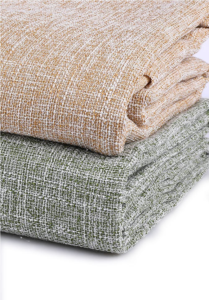 Polyester 300 with texture sense woven double layer tissue curtain fabric