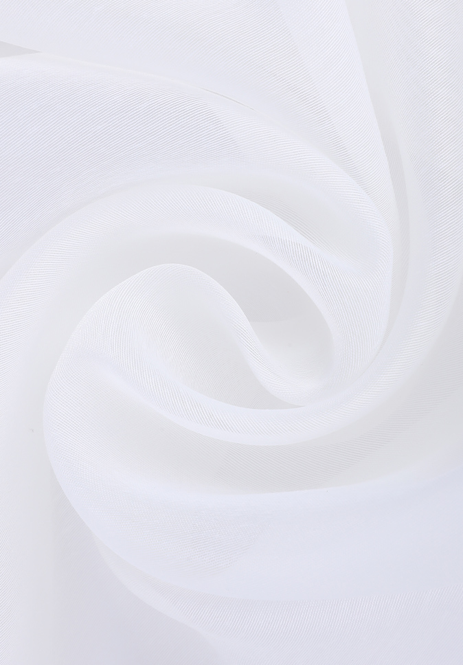 100% Polyester smooth and soft 300cm inherent flame retardant plain voile curtain fabric