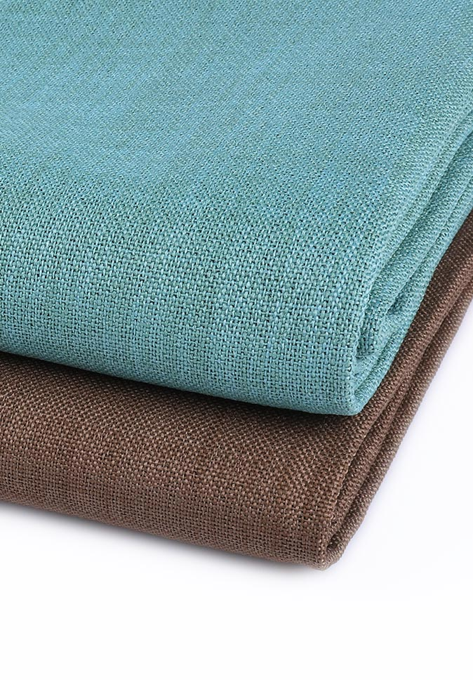 100% Polyester luxury anti-pilling 300CM IFR linen-look dimout curtain fabric