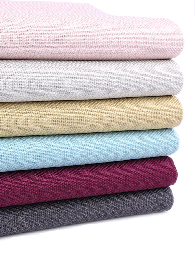 100% polyester IFR linen-look 300CM dimout curtain fabric