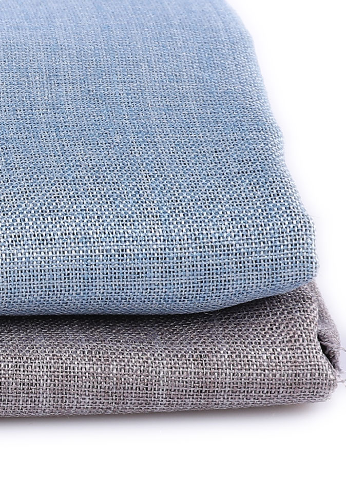 100%Polyester imitation hemp effect 300CM pendant feeling high color fastness blackout curtain fabric