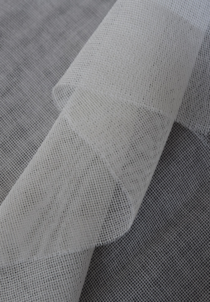 Flame Retardant 100% Polyester Sheer Fabric Translucent Fabric For Hotel Curtain