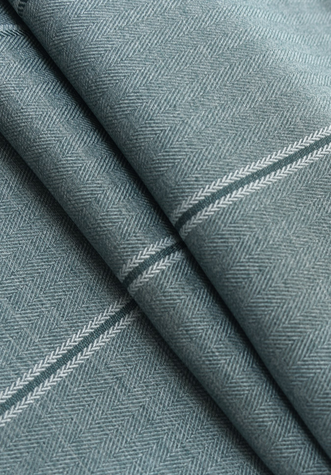 Inherent Flame Retardant 280CM Width Herringbone Luxury Dimout Fabric For Hotel Curtain