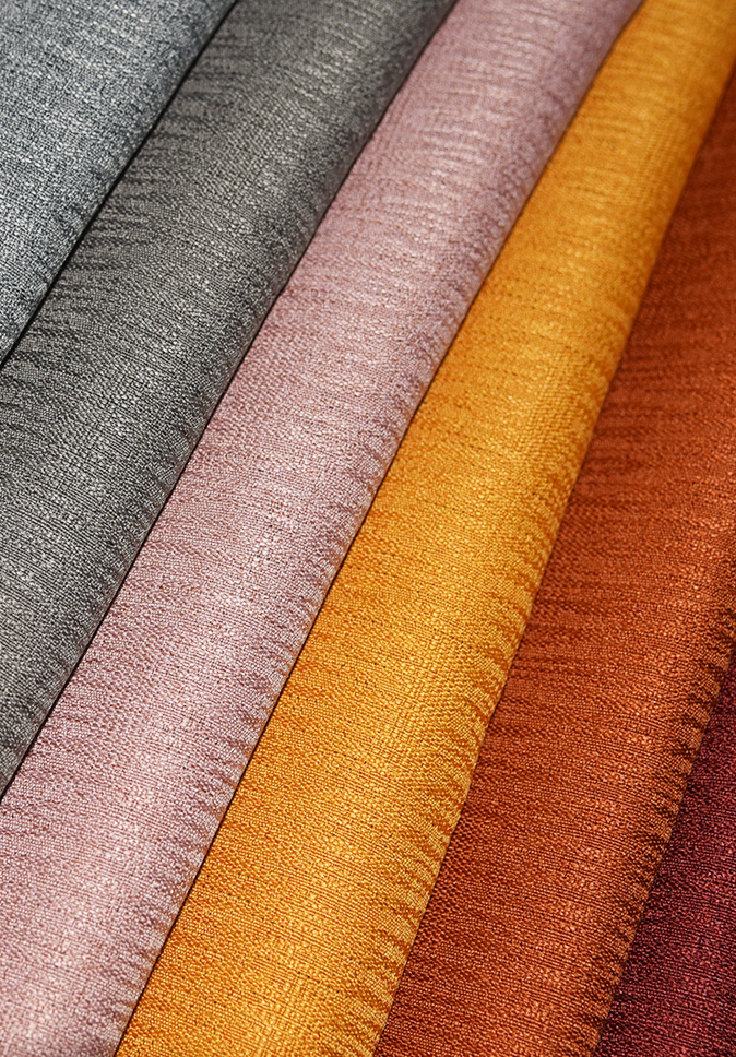 High Quality Wholesale 100% Polyester Linen-look Dimout Curtain Fabric Window Curtain Polyester Fabric For Hotel Curtain